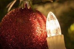 La lumière de Noël Images libres de droits