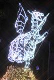 La lumière du spectacle pompeux à Sendaï Image stock