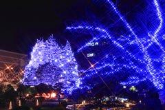 La lumière du spectacle pompeux à Sendaï Photographie stock