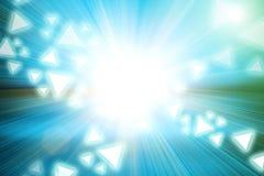 La lumière et la triangle abstraites forment sur le mouvement de vitesse d'accélération Image stock
