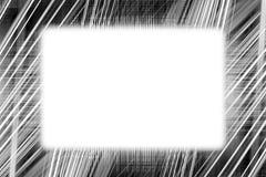 La lumière noire et blanche traîne le cadre Images libres de droits
