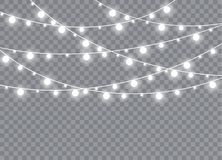 La lumière rougeoyante éclate sur un fond transparent illustration de vecteur