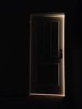 La lumière sur la porte Photos stock
