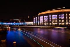 La lumière traîne Amsterdam Images libres de droits