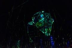 La luminosità dei cristalli fotografia stock