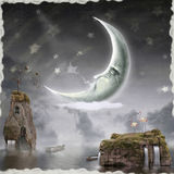 La luna è in cielo royalty illustrazione gratis
