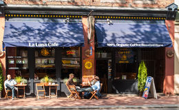 La Luna Cafe on Water Street in Gastown, Vancouver Stock Photos
