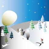 La luna come una palla di neve enorme illustrazione vettoriale