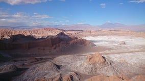La Luna, désert d'Atacama, Chili de Valle De Photo stock