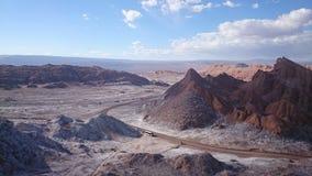 La Luna, désert d'Atacama, Chili de Valle De Photos stock