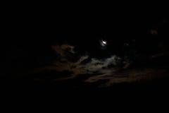 La luna de ocultación Imagenes de archivo