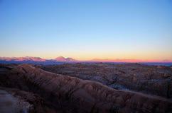 La Luna de Valle de do por do sol Imagens de Stock