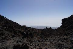La luna del teide de las islas Canarias de Tenerife estropea Foto de archivo libre de regalías