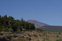 La luna del teide de las islas Canarias de Tenerife estropea Fotografía de archivo libre de regalías