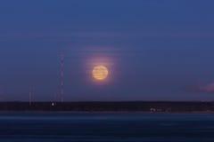 La luna del tonto de la mañana Fotografía de archivo libre de regalías