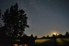 La luna di Whwn viene su!! fotografie stock libere da diritti