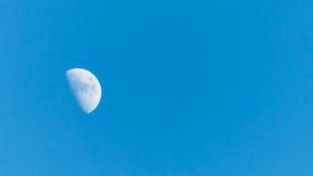 La luna durante il giorno Fotografia Stock Libera da Diritti