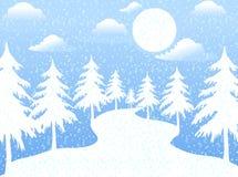 La luna en día de Navidad Ilustración del Vector
