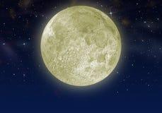 La luna en el cielo de la estrella ilustración del vector