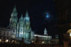 Noche de Compostela Foto de archivo libre de regalías