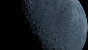 La luna nell'oscurità al deserto di Negev di Israele immagini stock