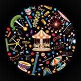 La luna park di carnevale Fotografia Stock