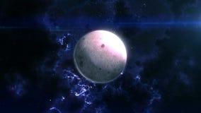 La luna rivela nello spazio stock footage