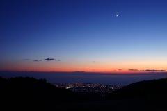 La luna sobre Paphos Imágenes de archivo libres de regalías