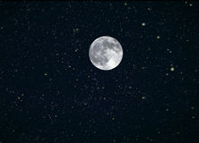La luna Stars il composto Immagini Stock