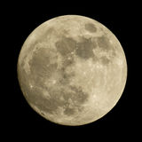 La luna su un cielo notturno Fotografia Stock Libera da Diritti