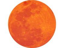 La luna un corpo astronomico Vetro del succo di arancia con la fetta arancione fotografia stock