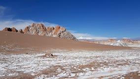 La Luna Valley da lua no deserto de Atacama, o Chile de Valle de imagens de stock royalty free