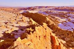 La luna van het Dal DE van de maanvallei in Atacama-woestijn stock afbeeldingen