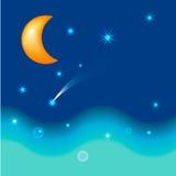 La luna y el mar Imagen de archivo libre de regalías