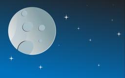 La luna y las estrellas Foto de archivo
