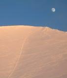 La luna y las montañas fotografía de archivo libre de regalías