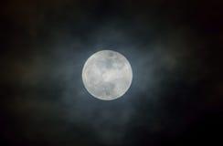 La lune dans l'obscurité Photographie stock