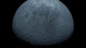 La lune dans l'obscurité au désert du Néguev de l'Israël illustration stock