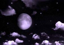 La lune dans le ciel nocturne Photo libre de droits