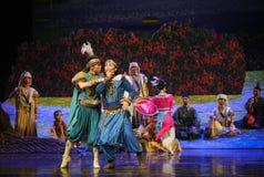 La lune de ballet de discussion-Hui au-dessus de Helan Images libres de droits