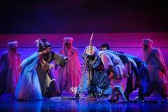 La lune de ballet de noyau-Hui au-dessus de Helan Photos stock