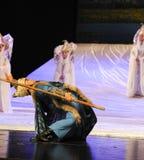 La lune de ballet de pont-Hui de fer au-dessus de Helan Images stock