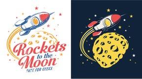La lune de Rocket vole illustration stock