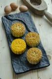 La lune durcit la pâtisserie cuite au four par Chinois image stock