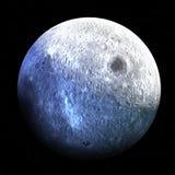 La lune est satellite naturel permanent du ` s de la terre seulement Images stock