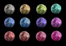 La lune est transformée par un concept mystérieux et mystérieux La lune est de code à couleurs de sorte qu'elle puisse être emplo Photos stock