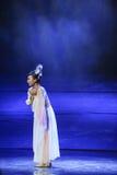 La lune isolée de ballet de coeur-Hui au-dessus de Helan Photographie stock
