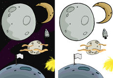 La lune a placé I Illustration Stock