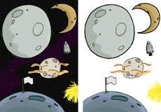 La lune a placé I Photographie stock libre de droits
