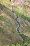 La lunga strada su Lanzarote, Isole Canarie, Spagna immagine stock